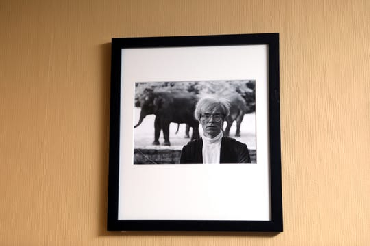 A Ron Galella photograph shows Andy Warhol. Sunday, April, 21, 2019