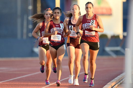 New Mexico State Track and Field competes at the University of Arizona in April 2018.