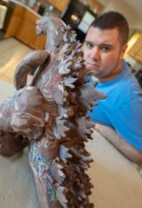 Alex Waters, who was diagnosed as autistic when he was 3, can create clay sculptures from memory.