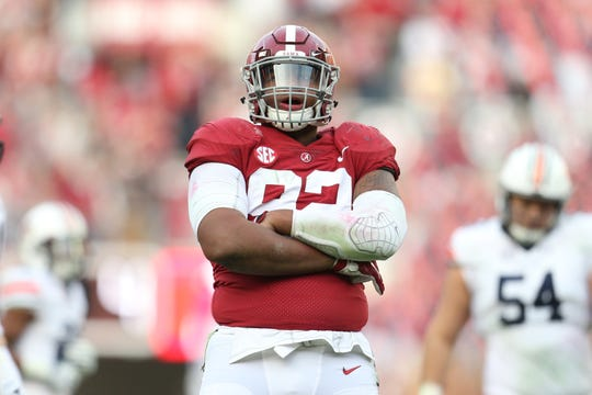 Alabama defensive lineman Quinnen Williams could be the top pick in the 2019 NFL draft.