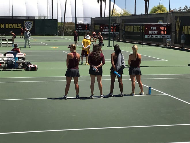 ASU women's tennis beat Arizona on Saturday, keeping ASU's chances of winning the 2018-19 Territorial Cup Series alive.