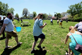 Mother's Brewing Co. hosted its first Adult Easter Egg Hunt April 21, 2019.