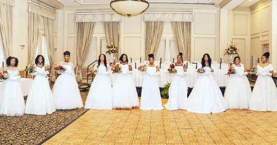 Left to right: Marhee Green, Ariana Chandler, Taylor Stephens, Victoria Smith, Hanna Triplett, Taylor Lunningham, Tiffanee Moore, Adriyana Jackson, Janeen Meeks, and De'Asia Staten.
