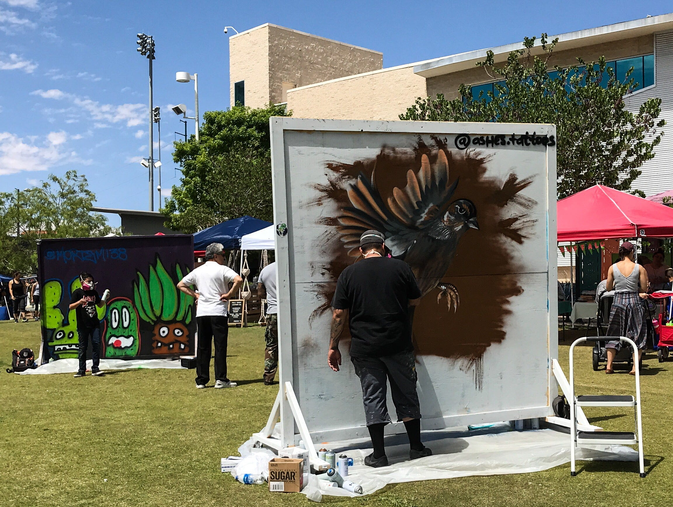 The weekly Downtown Art and Farmers Market was moved from Union Plaza to Cleveland Square Plaza outside the El Paso Museum of History as part of the Earth Day celebration. The city of El Paso's Environmental Services Department held the event Saturday, April 20, 2019.