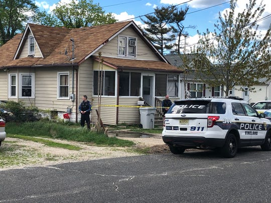 Crimes scene tape stretches across the front yard of a Crystal Avenue residence April 21, 2019.