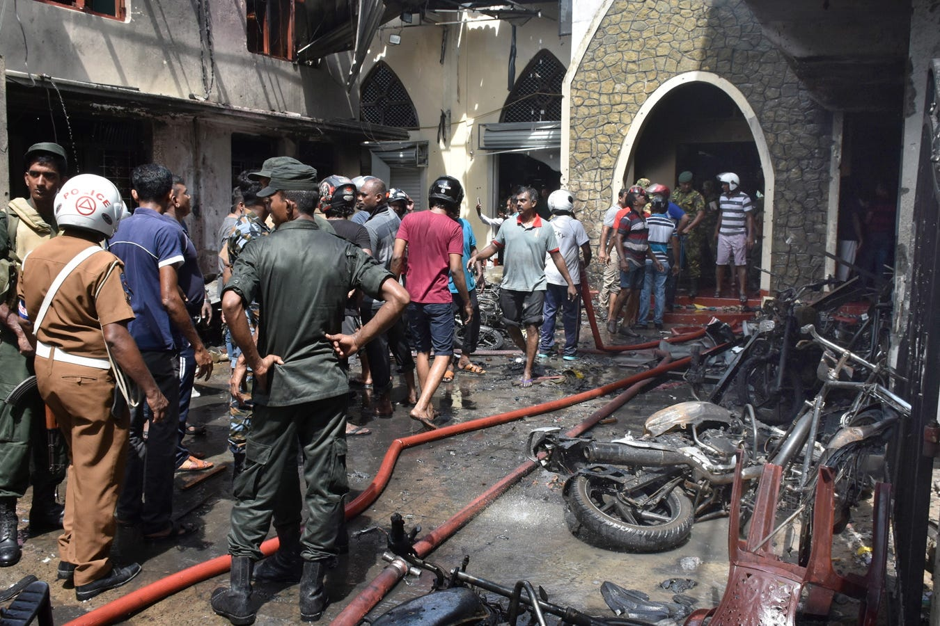 Nearly 200 killed as explosions rock churches and hotels in Sri Lanka on Easter Sunday