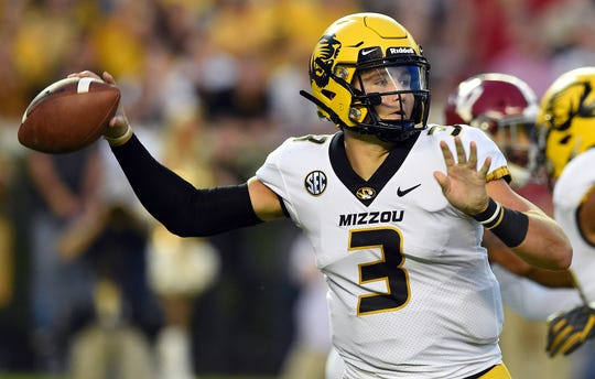 Drew Lock, a quarterback out of Missouri, is projected to be drafted in the first round.