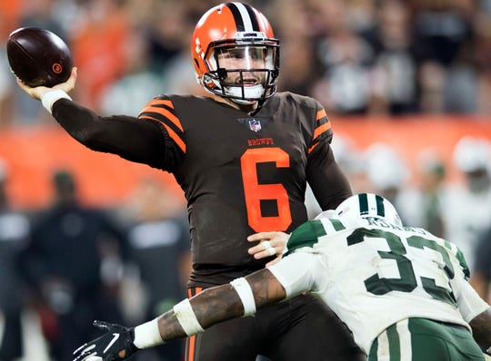 Baker Mayfield and the Browns face the Jets in Week 2 in the first of four prime-time games this season for Cleveland.