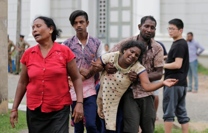Scenes from the Sri Lanka Easter Sunday explosions