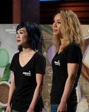 """On """"Shark Tank,"""" Gwen, left, and Christine Nguyen were asking $400,000 for 10% of their company, Mavens Creamery, a California-based macaron ice cream sandwich manufacturer."""