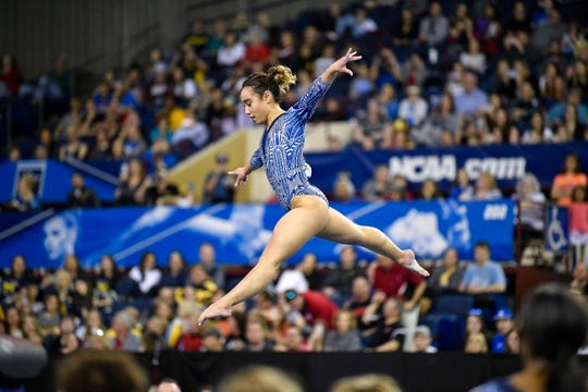 UCLA's Katelyn Ohashi competes during the 2019 NCAA Gymnastics Championships in Fort Worth, Texas.