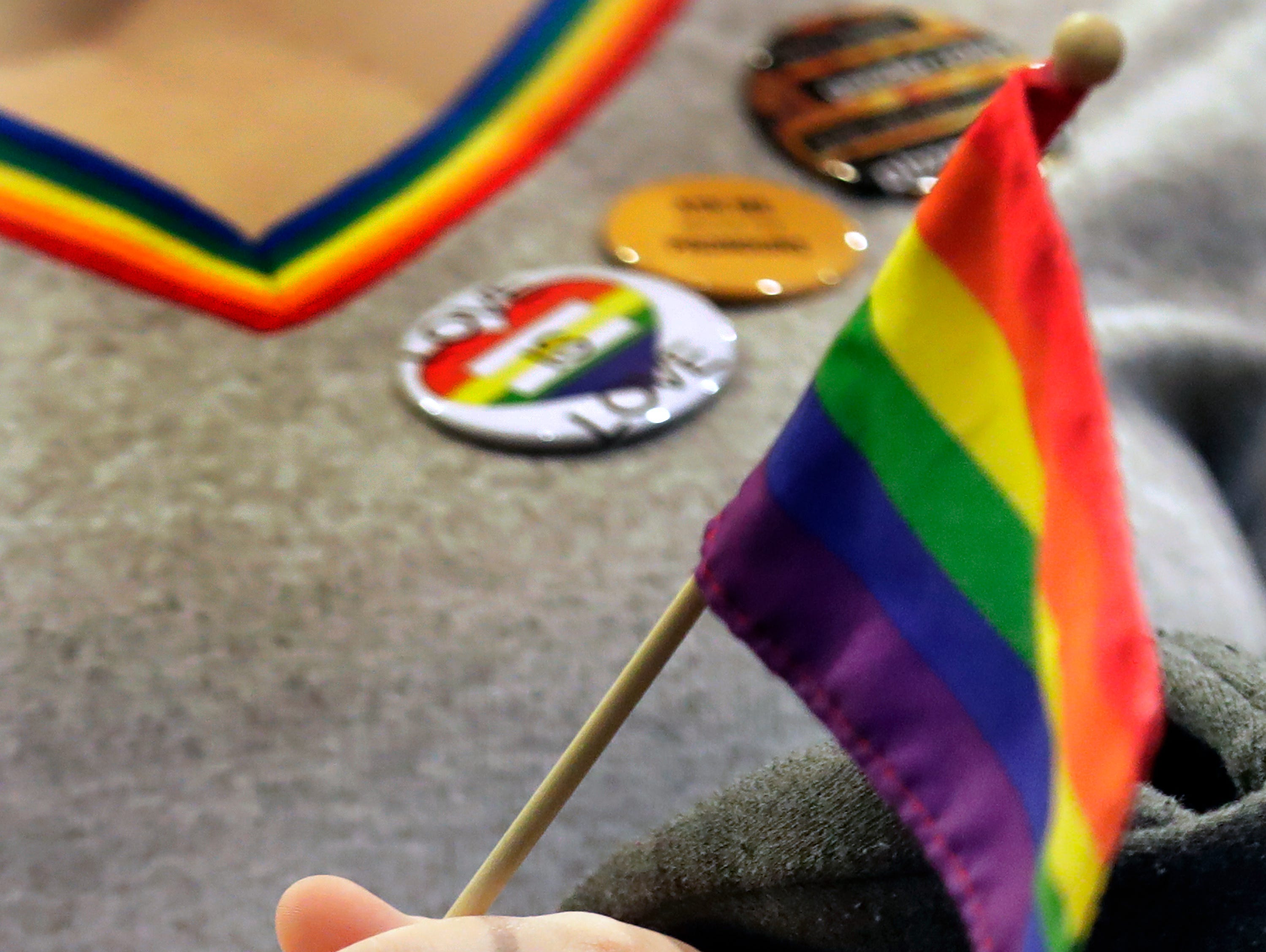 The 10th annual LGBTQ+ Ally March at the Reeve Memorial Union on the University of Wisconsin Oshkosh campus onWednesday, April 17, 2019, in Oshkosh, Wis. Wm. Glasheen/USA TODAY NETWORK-Wisconsin.