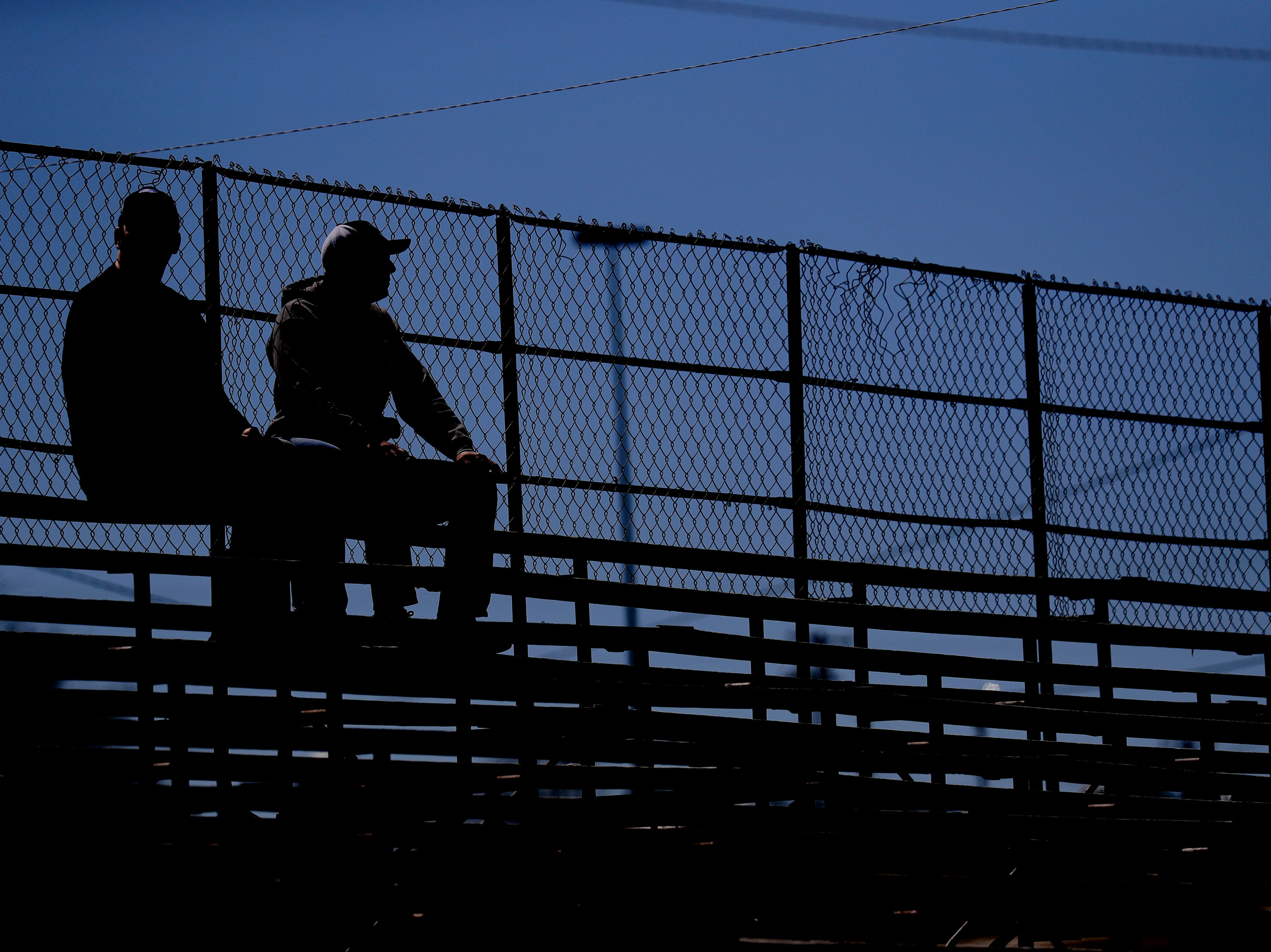 Fans look on from the stands during the Wisconsin International Raceway Strip Test & Tune event Saturday, April 19, 2019, in Kaukauna, Wis. Drivers spent the day getting safety inspections, tune ups and test runs on the track for the upcoming season.Dan Powers/USA TODAY NETWORK-Wisconsin