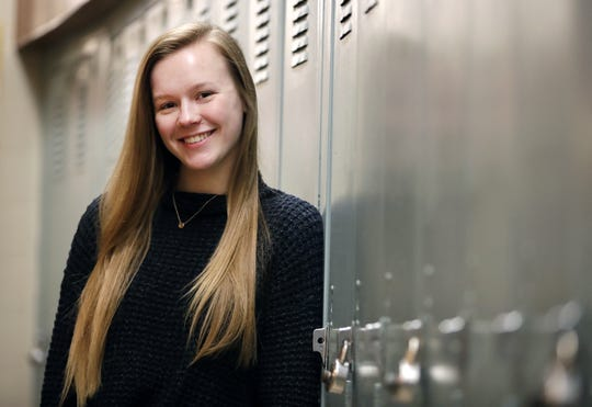 Sydney Olmsted, a senior at Appleton East High School, is the winner of the Celebrating Volunteers  Youth Scholarship Award. Danny Damiani/USA TODAY NETWORK-Wisconsin