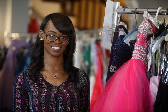 Melia Owens of Neptune, program coordinator, runs the Lunch Break's 4th Annual Prom Giveaway Event at the Woman's Club of Red Bank in Red Bank, NJ Monday, April 22, 2019.