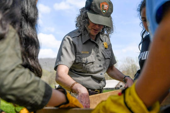 Susan Sachs, Great Smoky Mountains National Park education branch chief, is a self-described city girl, having grown up in Baltimore with no knowledge of national parks.