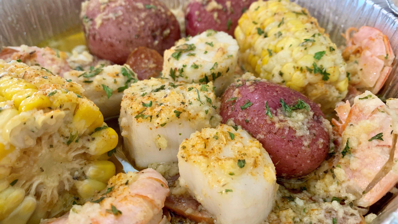 Melbourne Seafood Station serves fresh food and plenty of it