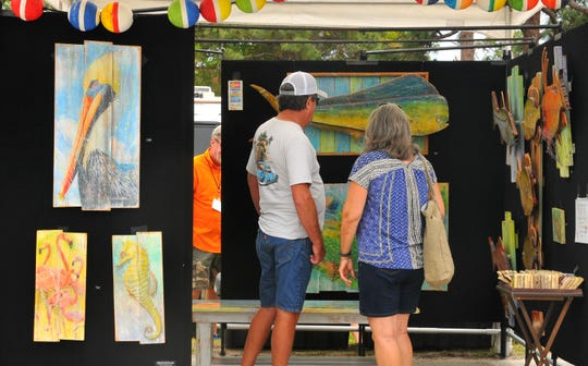 Puta Gorda artist Ed Hendrix had a display at a previous Melbourne Art Festival. This year's event is this weekend at Wickham Park.