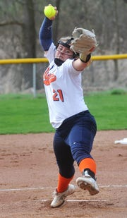 Galion's Madelyn Thomas earned Mansfield News Journal Female Athlete of the Week after throwing a complete-game perfect game last week.