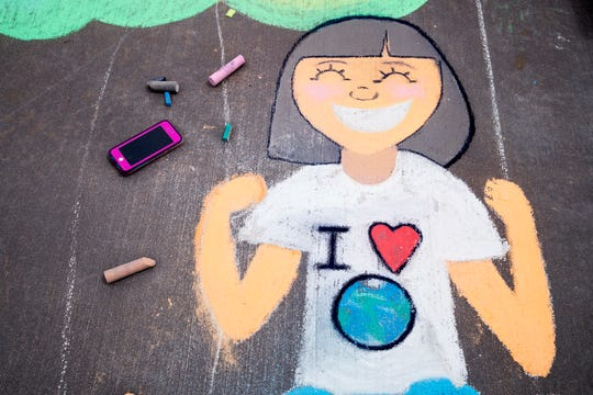 Community members, students and faculty created murals in recognition of Earth Day and as a kickoff to a weeklong Earth Week on Monday, April 22, 2019 at Texas A&M University-Corpus Christi.