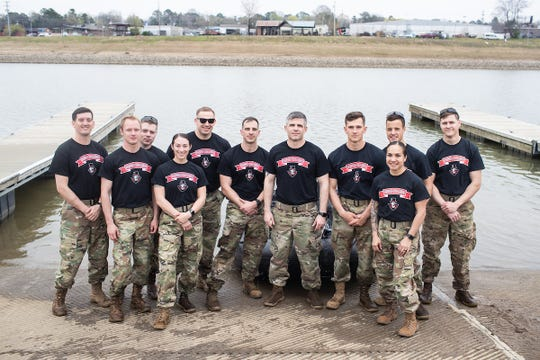 The Austin Peay Ranger Challenge cadets are, from left, Brandan Dickinson, Wesley Gray, Paul Kearney, Kylie Head, Walt Higbee, Daniel Cole, Steven Price, Thomas Rose, Christina Taylor, Thomas Porter and Brandon Hagens.