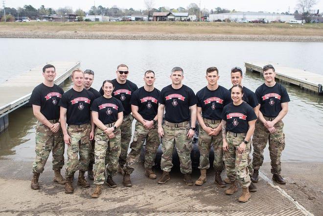 The Austin Peay Ranger Challenge cadets are, from left, Brandan Dickinson, Wesley Gray, Paul Kearney, Kylie Head, Walt Higbee, Daniel Cole, Steven Price, Thomas Rose, Christina Taylor, Thomas Porter and Brandon Hagens.