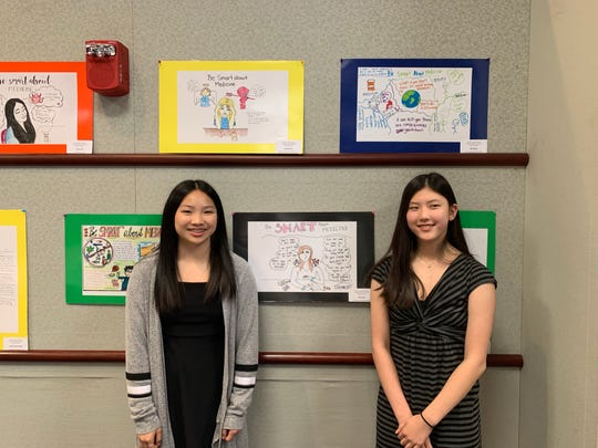 Giselle Lee of Edison and Anna Lee of Warren, eighth graders at The Wardlaw+Hartridge School in Edison, were selected as winners in this year's Be Smart about Medicine contest.
