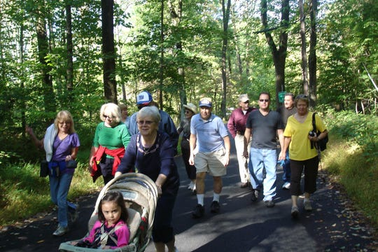 Duke Island Park Wednesday Walkers hit the trails at 9:30 a.m. every Wednesday at Duke Island Park in Bridgewater.