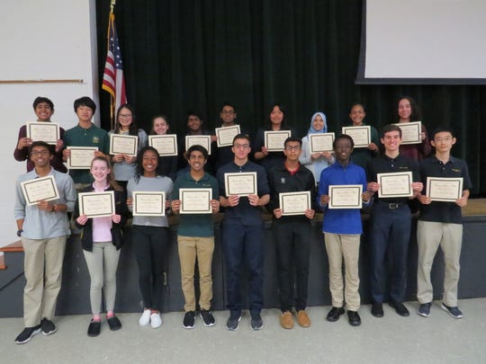 The Wardlaw+Hartridge School family science night award winners