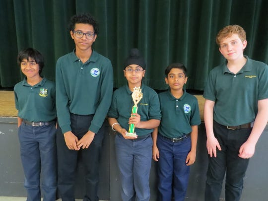 W+H students participating were, from left: Vineeth Reddy of Edison, Nathaniel Bravo of Plainfield, Jasteij Sappal of Edison, Aryan Janardhana of Edison and Jack Silver of Rahway.