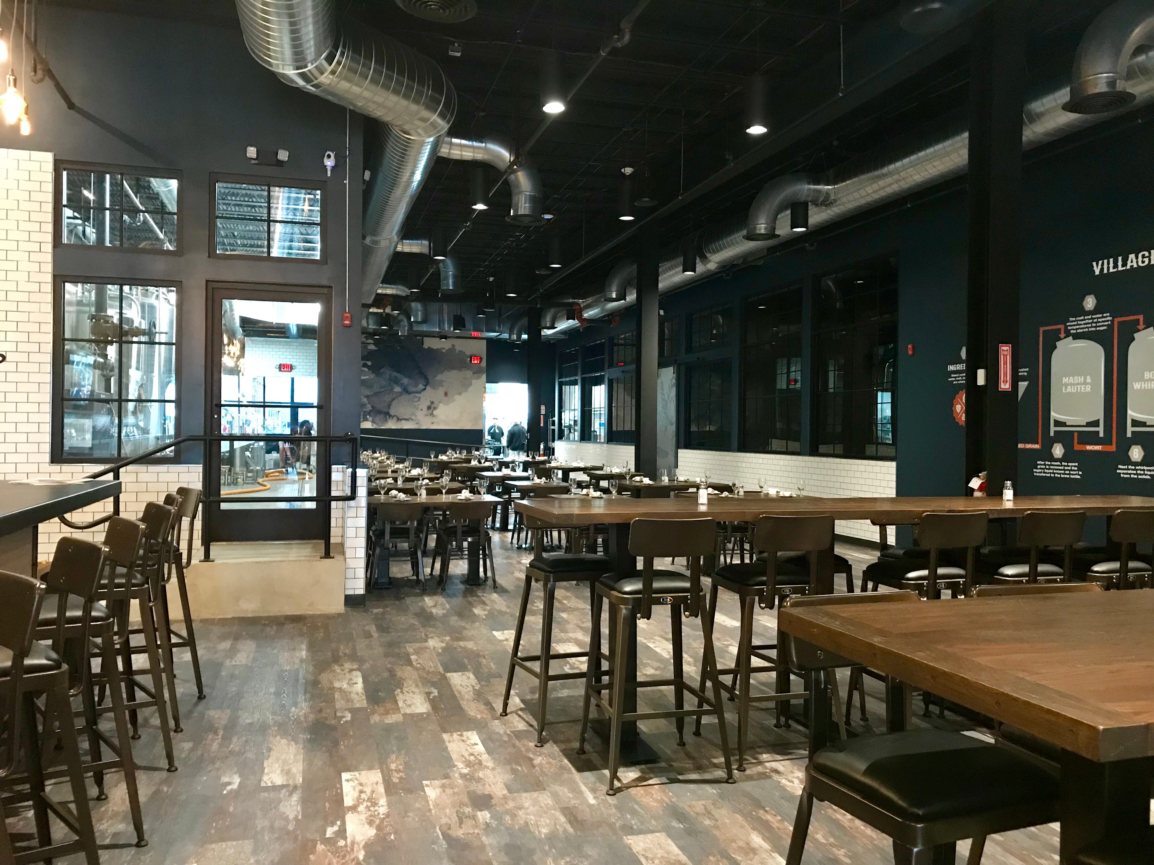 Inside the new Village Brewing in Somerville.
