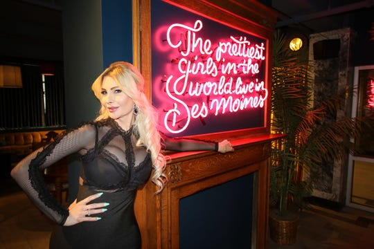 Cassandra Cass, a transgender burlesque dancer and a Des Moines native.