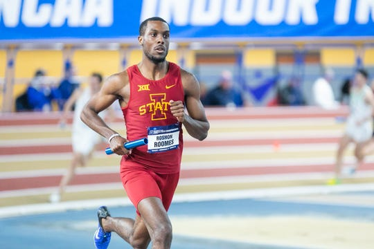 Roshoon Roomes has become a surprise star for the Iowa State track team.