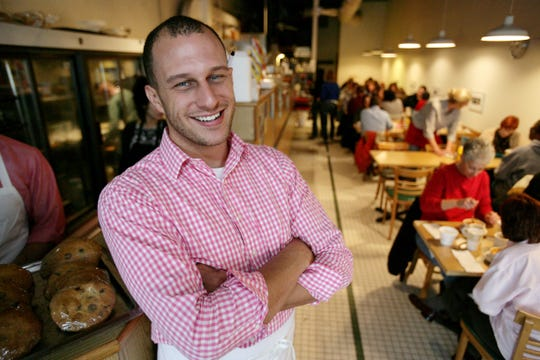 Russell Street Deli chef and co-owner Ben Hall, photographed at the Eastern Market deli shortly after purchasing it in 2007. Hall has decided to close the 30-year-old deli after an impasse with the building's new landlords.