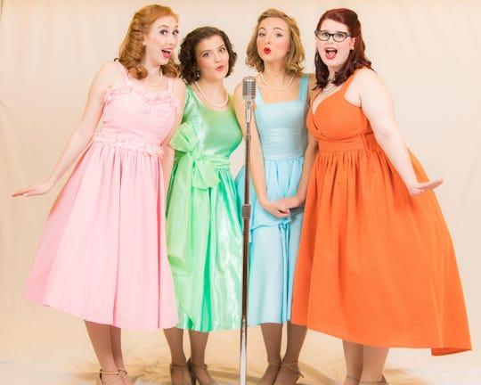 "Hannah Fairman, left, Emily Hadick, Olivia Ursu, and Kai Stidham in ""The Marvelous Wonderettes"" at Meadow Brook Theatre."