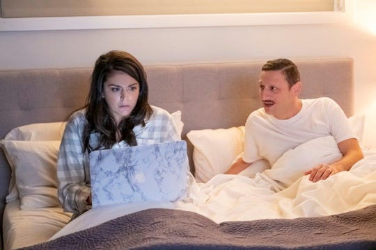 "Cecily Strong and Tim Robinson in ""I Think You Should Leave with Tim Robinson."""
