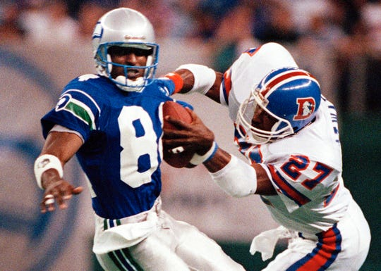 Safety Steve Atwater (27) was an eight-time Pro Bowler after the Broncos drafted him No. 20 overall in 1989.
