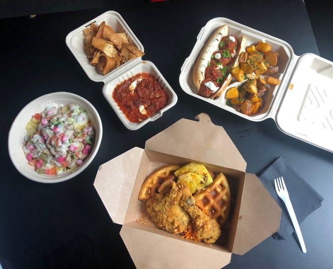 Saffron De Twah is serving carry out Moroccan cuisine on Gratiot near Van Dyke.