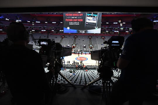 A local cameraman contracted COVID-19 after working the Pistons-Jazz game on March 7.