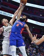 Andre Drummond is averaging 14 points (44.7 percent shooting) and 13.3 rebounds through three playoff games.
