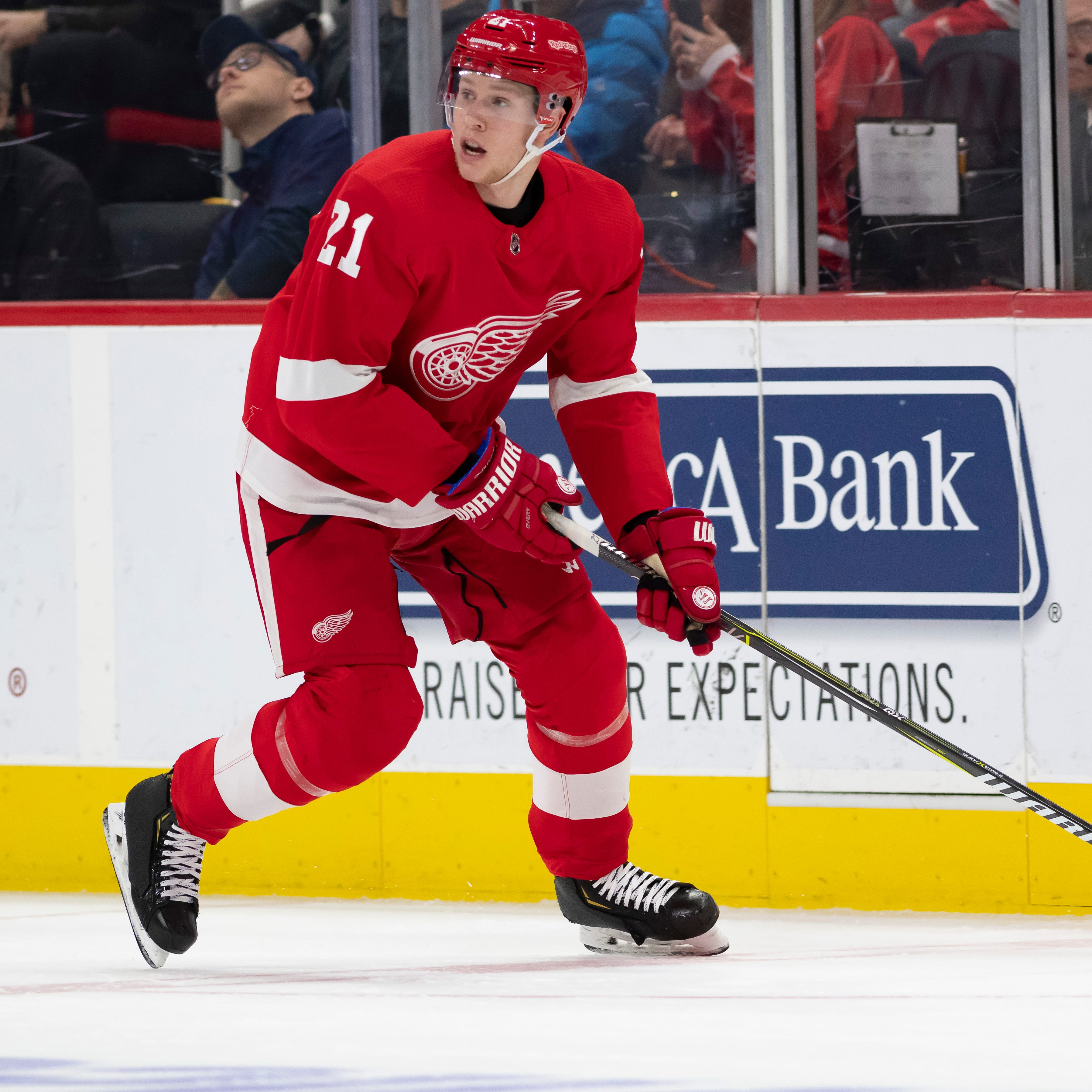 Dennis Cholowski overcomes demotion as Red Wings take big-picture approach