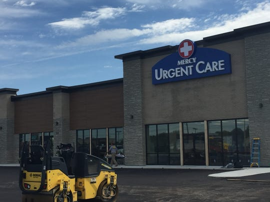 Mercy Urgent Care opens Wednesday on North Green River Road, in a new strip mall that also will include a Tropical Smoothie Cafe.