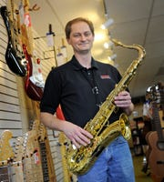"""An open jam will be held Tuesday afternoon in Fond du Lac for Dan Gilgenbach, owner of Mike's Music. He died April 18, at the age of 54, but his legacy as the city's """"Music Man"""" will live on."""