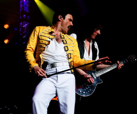 Patrick Myers as Freddie Mercury in Queen tribute band Killer Queen
