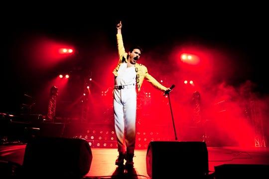 Patrick Myers as Freddie Mercury in Queen tribute band Killer Queen