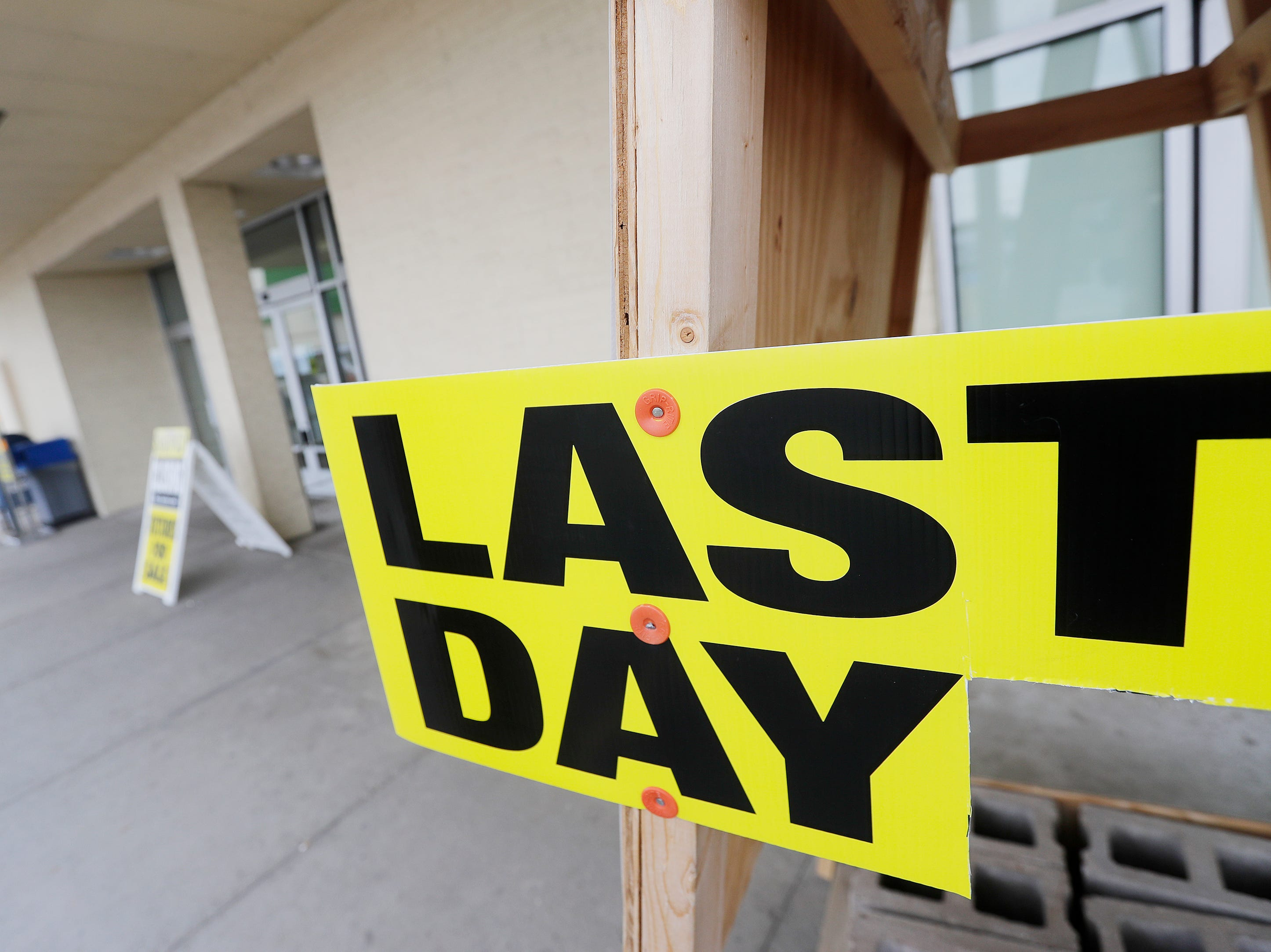 The final day of business at the Shopko on Military Ave on Monday, April 22, 2019 in Green Bay, Wis.