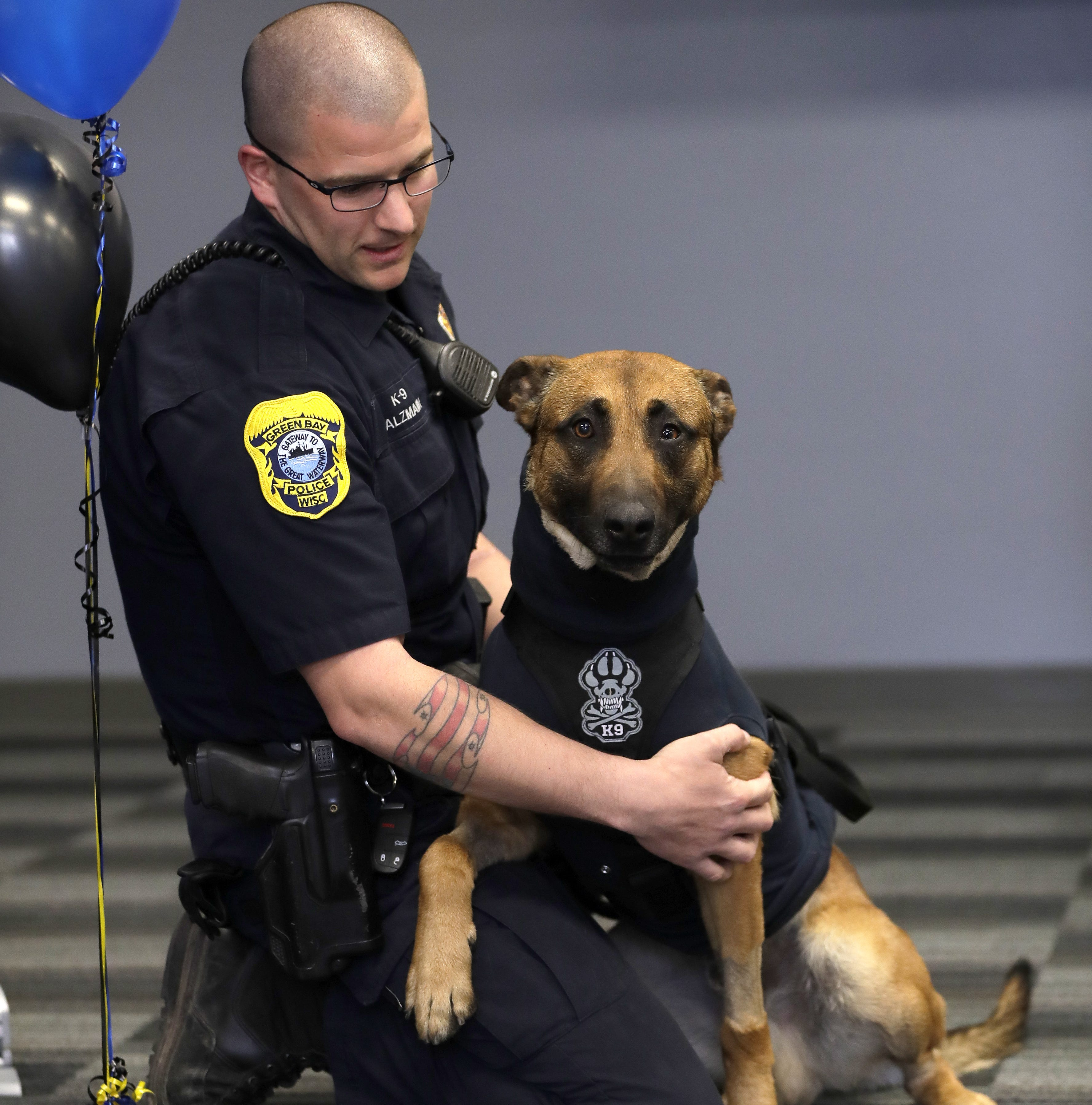 Green Bay Police K-9 handlers to receive emergency trauma kits as Pyro returns to work