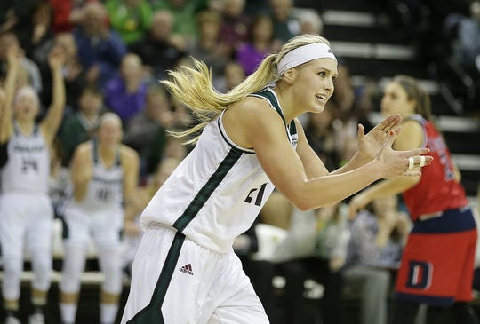 Former University of Wisconsin-Green Bay standout Jessica Lindstrom is averaging a double-double with her pro team, just like she did as a senior for the Phoenix.