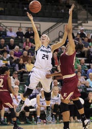 Allie LeClaire's first season overseas was a success, averaging 19.4 points per game.