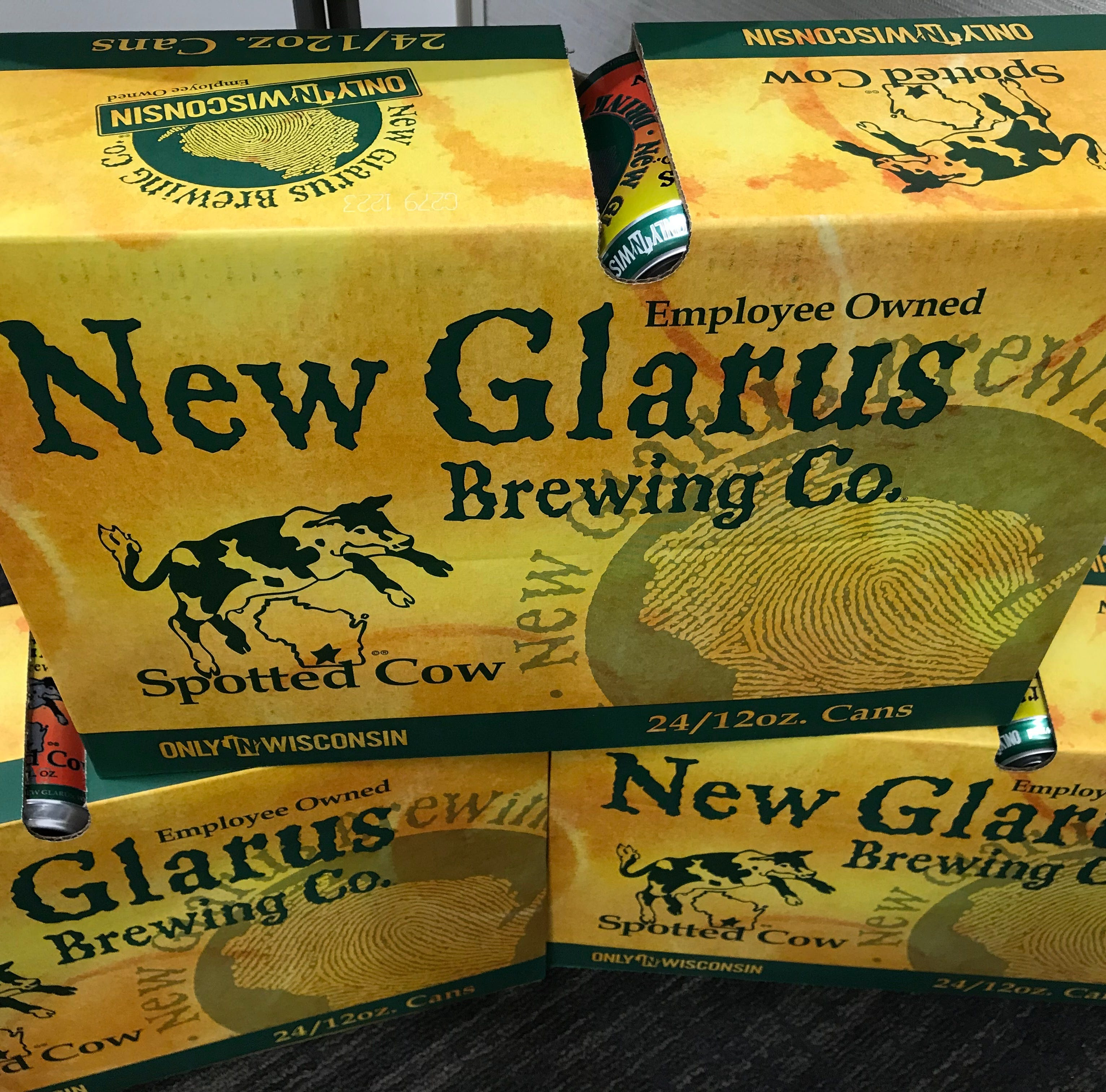 New Glarus Brewing's Spotted Cow now available by the case